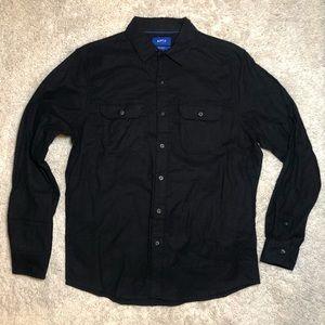 6/$20 Apt 9 size medium black button down